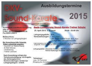 Schulsport Termine Sound-Karate 2015
