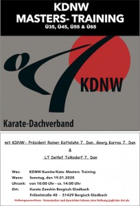 KDNW Masters 2020Training
