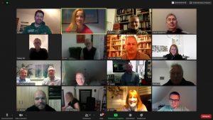 Zoom-Sitzung erweitertes Präsidium